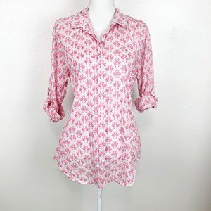 Tommy Bahama Flamingo Button Down Top Convertible